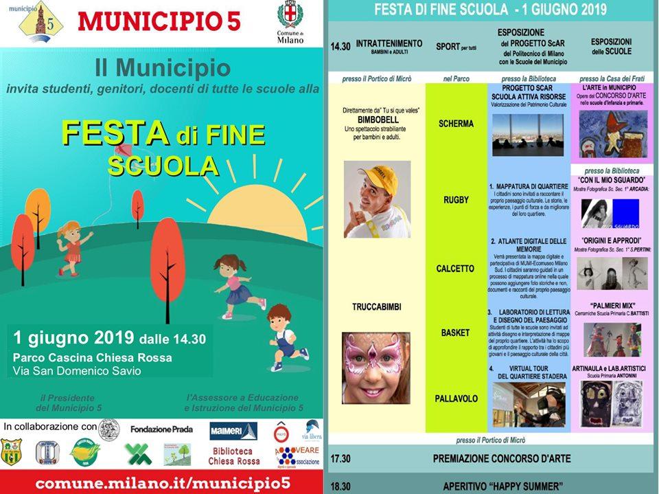Festa delle scuole del Municipio 5 1.06.19